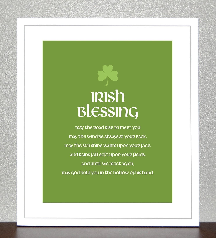 popular items for irish blessing print on etsy