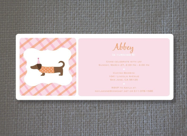 DogThemed Birthday Party Invitations Match Made on Hudson