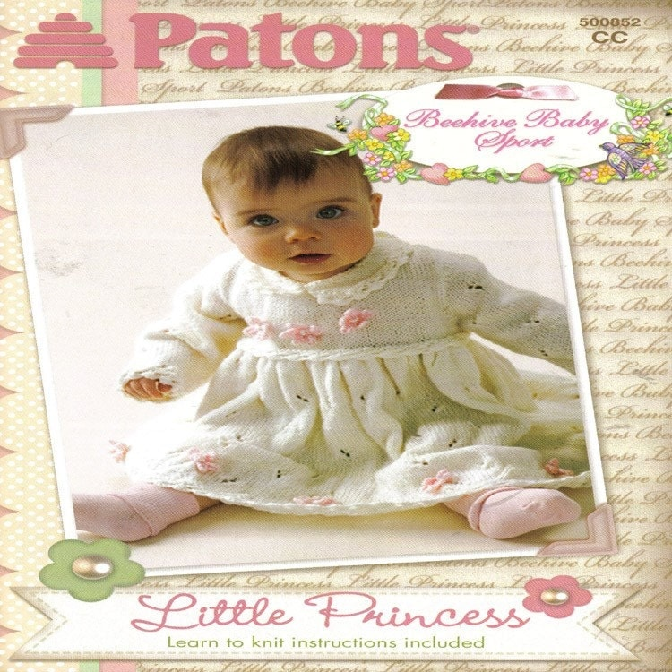 Patons BABY Little Princess Heirloom Knitting Patterns by sandmarg