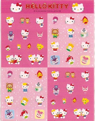 Super Cute Hello Kitty Stickers from Japan