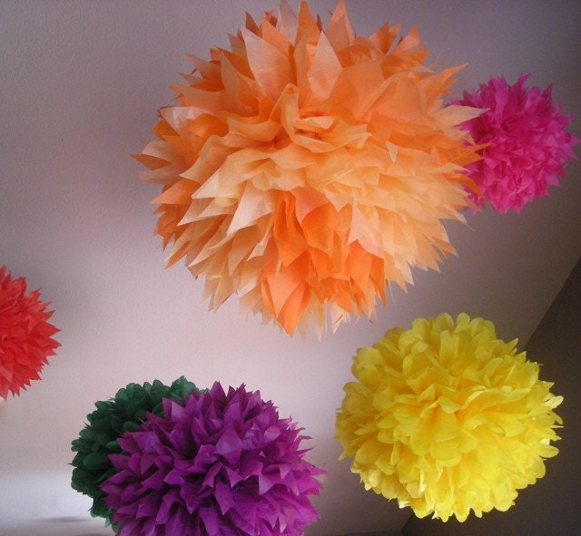 Zinnia Lover 7 Piece Pom Kit