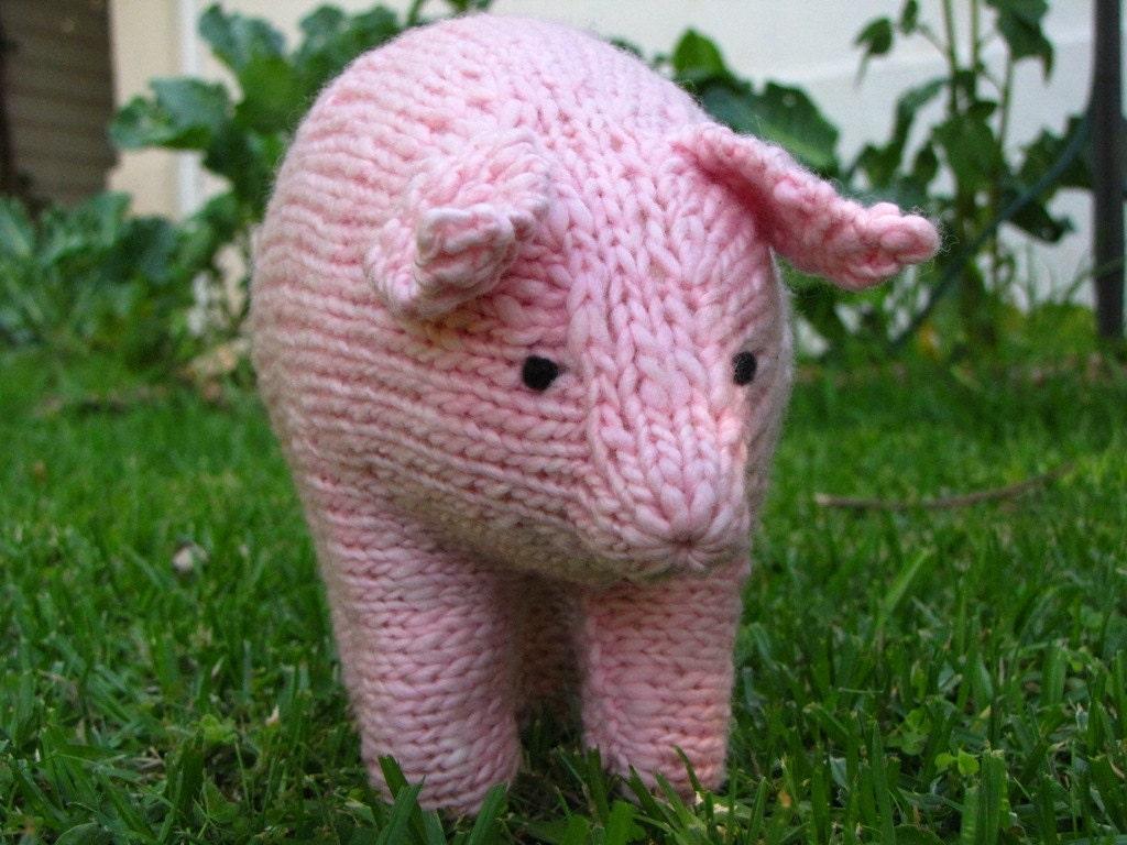 Pig Knitting Pattern, Waldorf, Toy, PDF