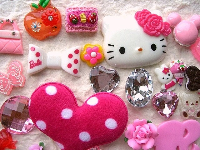 Japanese  Cabochons  BIG Set Mix 40 Kawaii