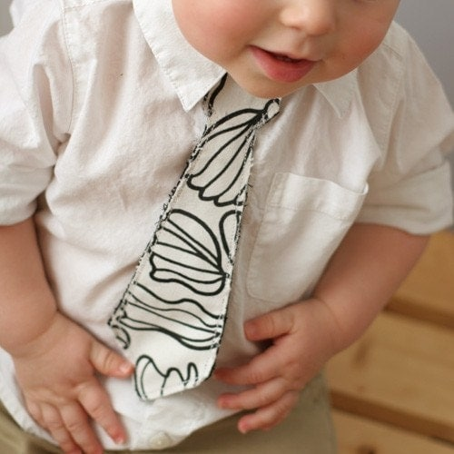 Etsy :: babyleila :: Tie for your Little Guy - Black and White 3T/4T or 5T/6