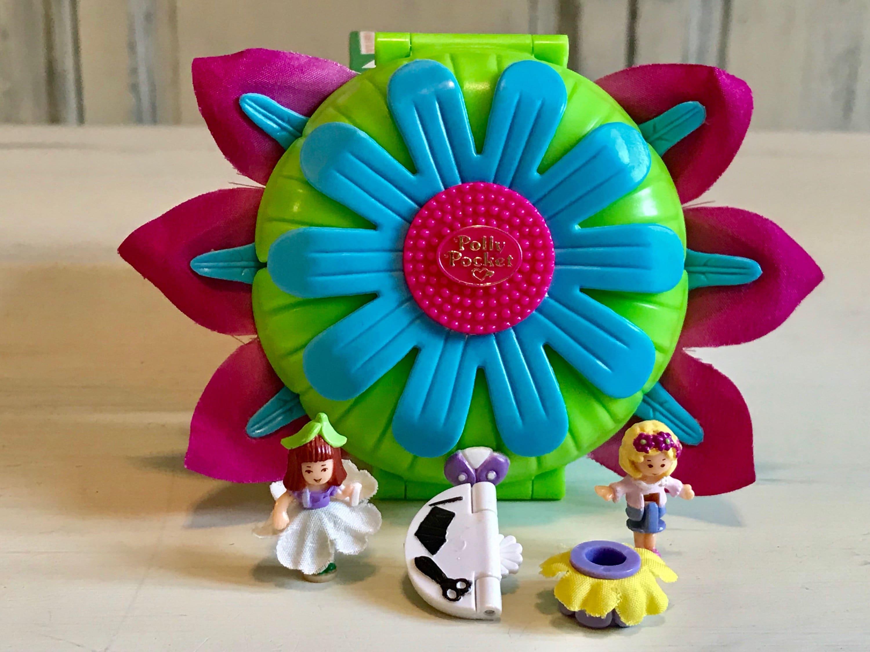 RARE Variation Vintage Polly Pocket Daisy Dressmaker 1997 Complete Bluebird Toys