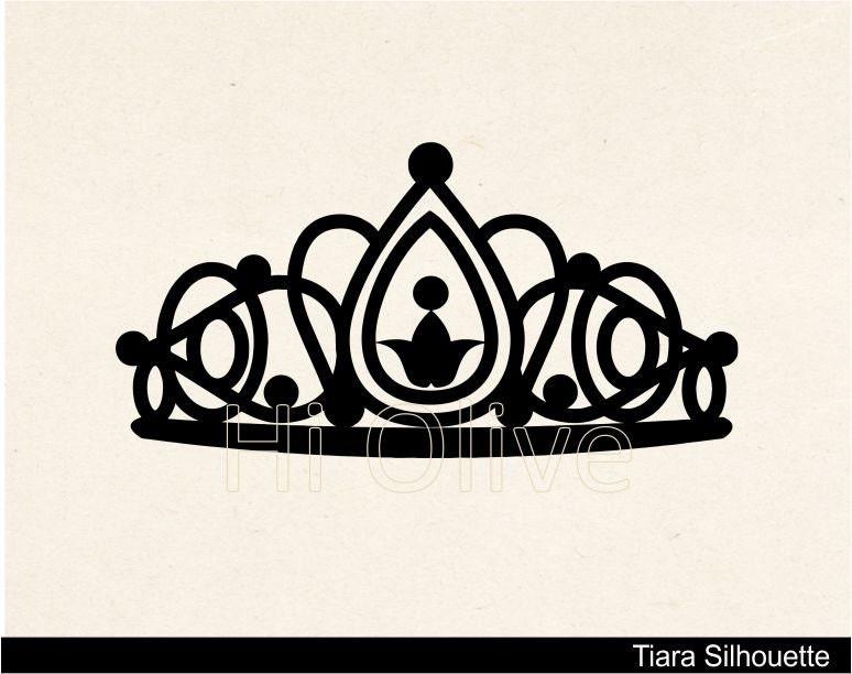 Tiara clip art,black silhouette clip art,queen crown clip art No. 43 ...