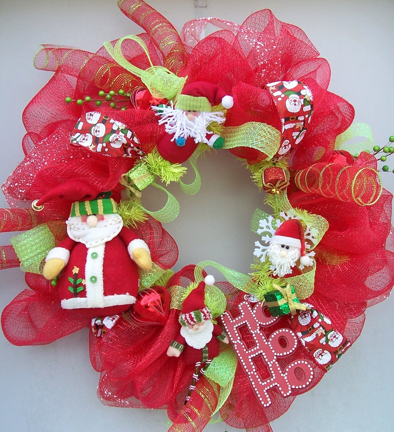 Christmas wreath with Santa
