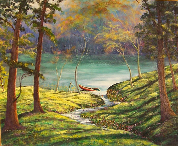 Kickapoo Logan Oil Painting 1908 1984 Signed By