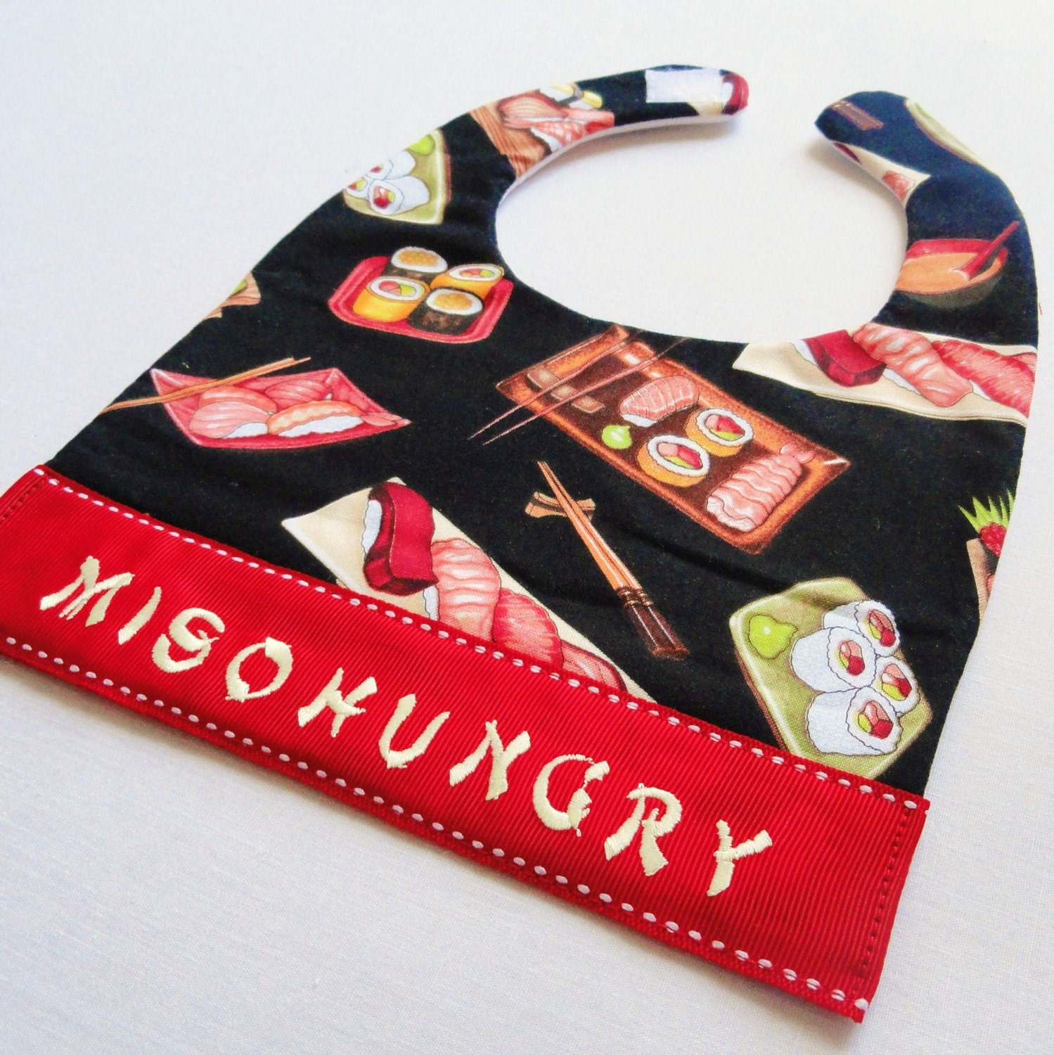 Miso Hungry for Sushi Keepsake Bib