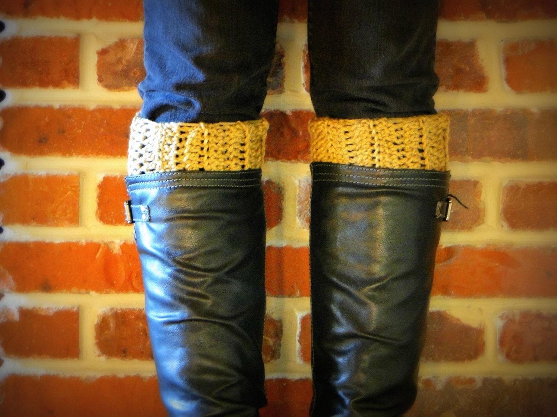 15% off use code GET15OFF - Crochet Boot Cuffs, Leg Warmers, Custom Colors - BeanieBazaar