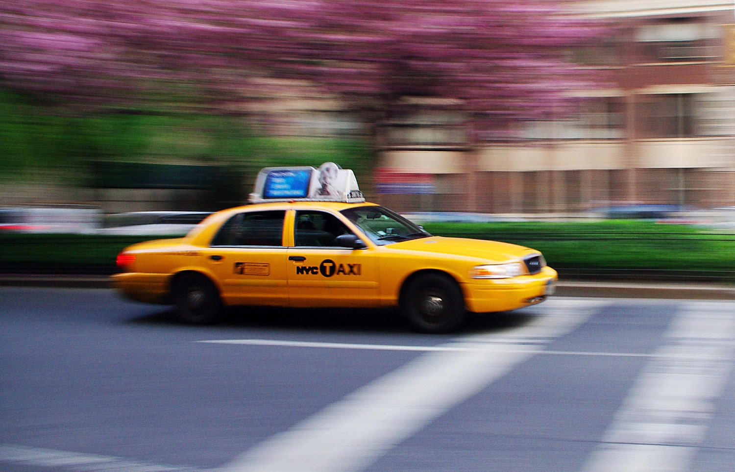 New York City Photograph - Park Avenue Taxi  - 12x18 Print on Kodak Professional Supra Endura Paper