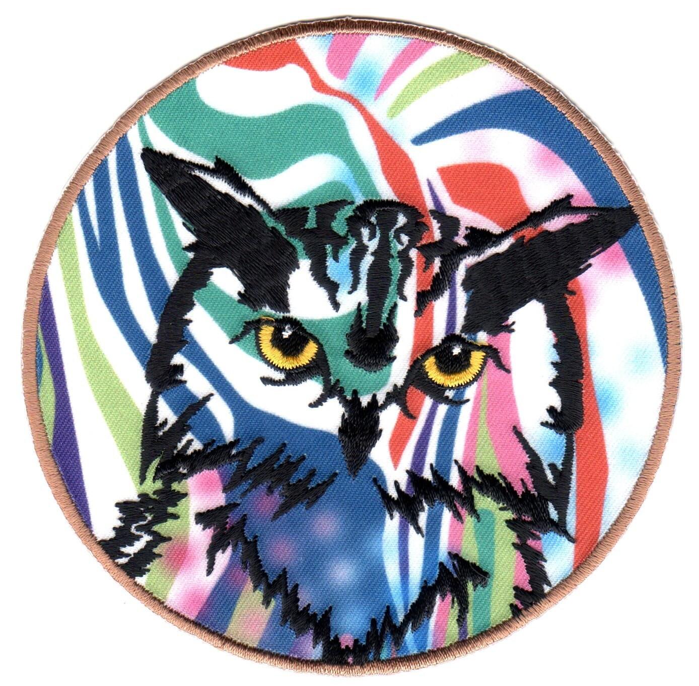 BRIGHT OWL Vinyl Sticker Laptop Tablet Tile Home Decor Embellishment Applique Patch Brand New