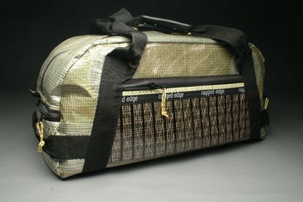 Airstream Traveler Sailcloth Gear Bag - Black and Olive by RAGGEDedgeGear on Etsy from etsy.com