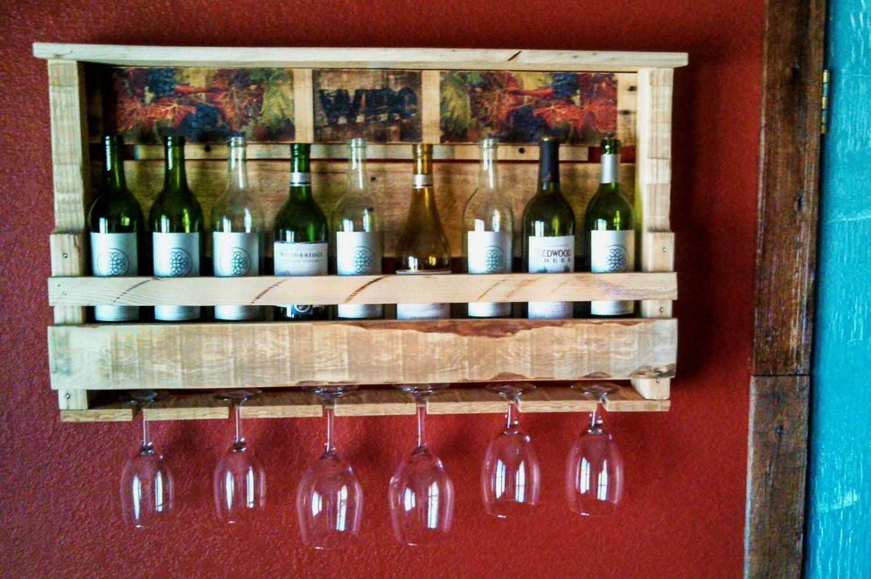 wine rack pallet wine rack reclaimed pallet by jslranchrustics. Black Bedroom Furniture Sets. Home Design Ideas