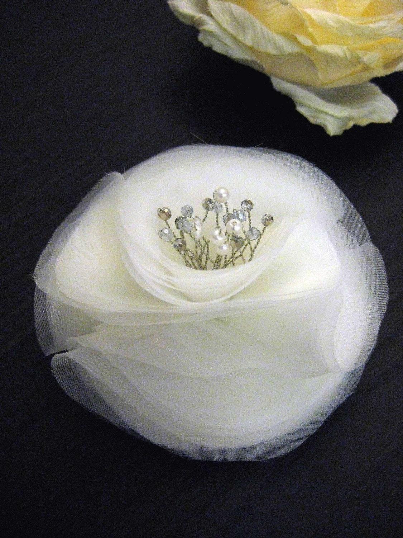 BRIDAL SILK ORGANZA FLOWER HEAD PIECE