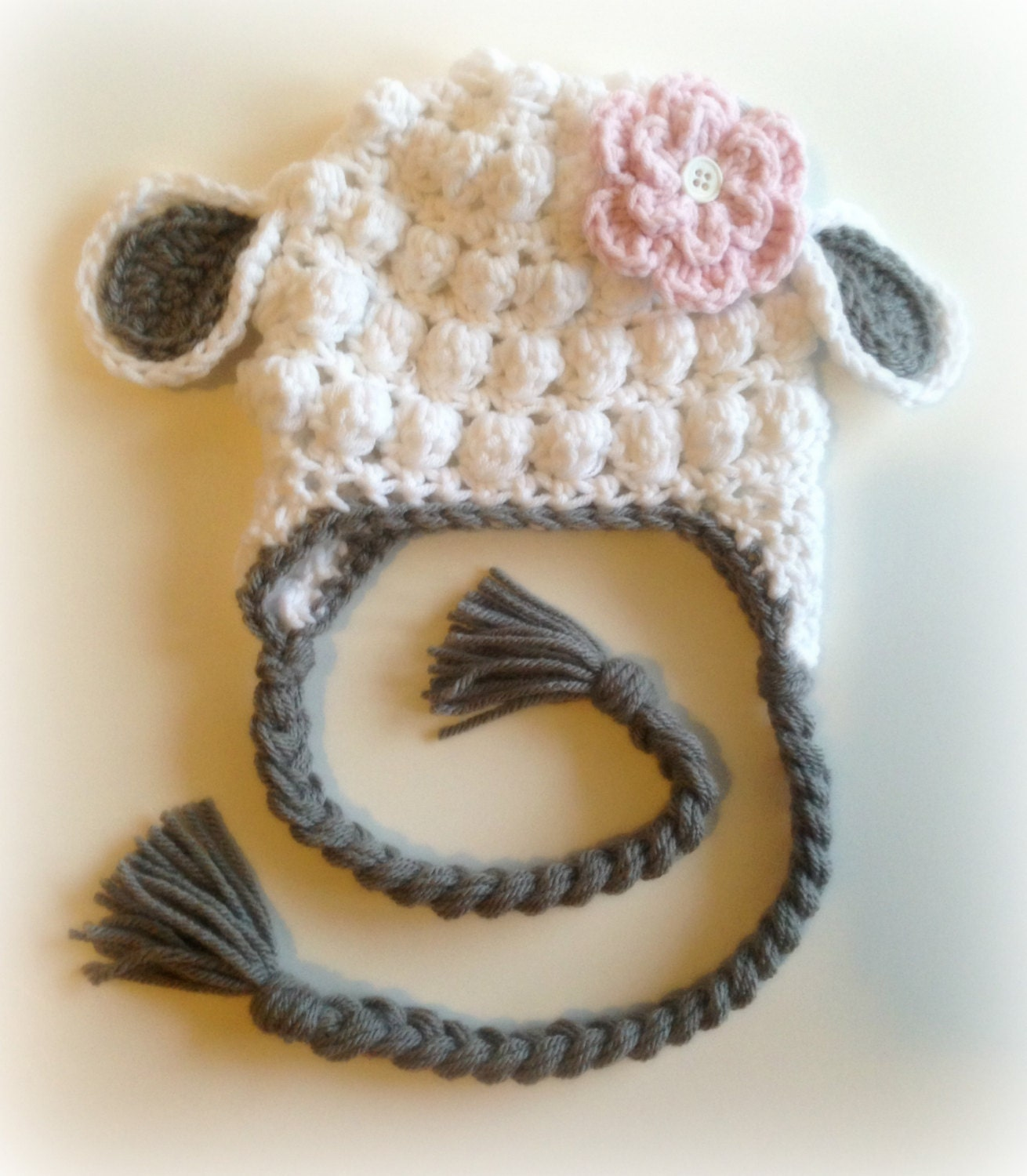 Little Lamb Crochet Hat Photography Prop by PinkLemonKnits ...