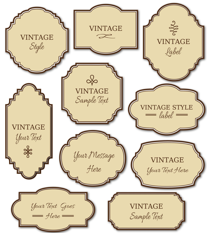 Etiquetas vintage gratis para imprimir - Imagui