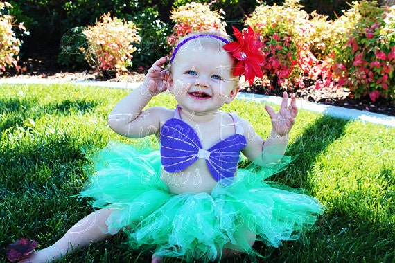 Little Mermaid Tutu Custom Sewn Infant Toddler Tututiara