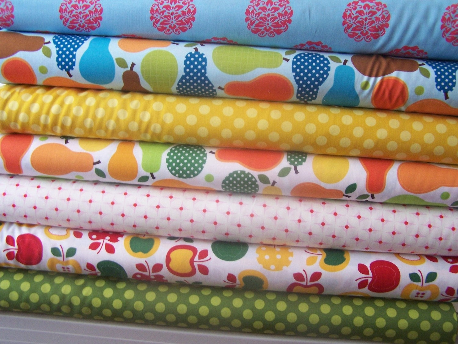 METRO MARKET summer colors with bright COORDS....1/2 yd 7 total