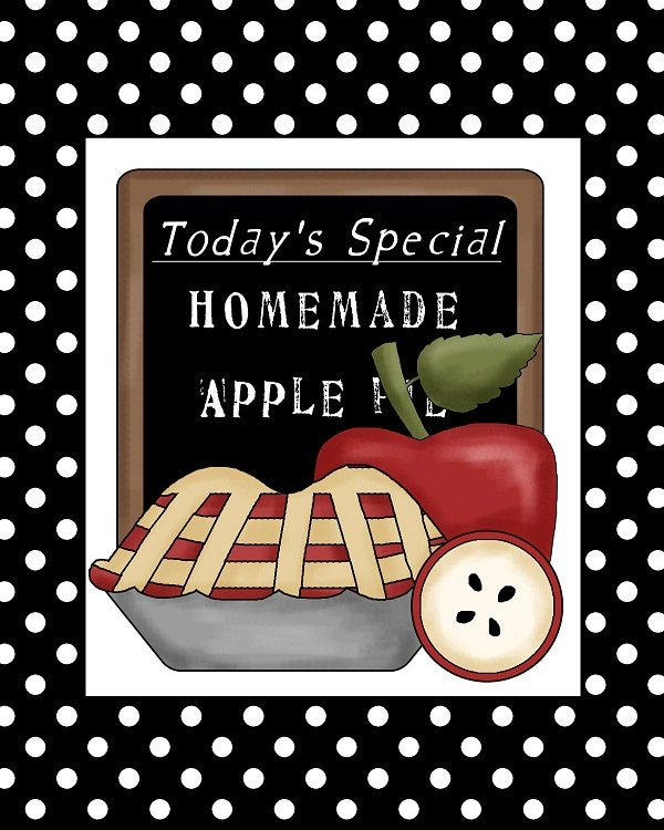 8x10 Art Print - Apple Pie Printable - GreySheepGallery