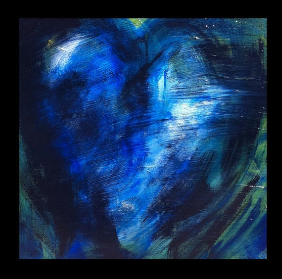 Art, Home Decor, Abstract Painting, Secrets, Heart