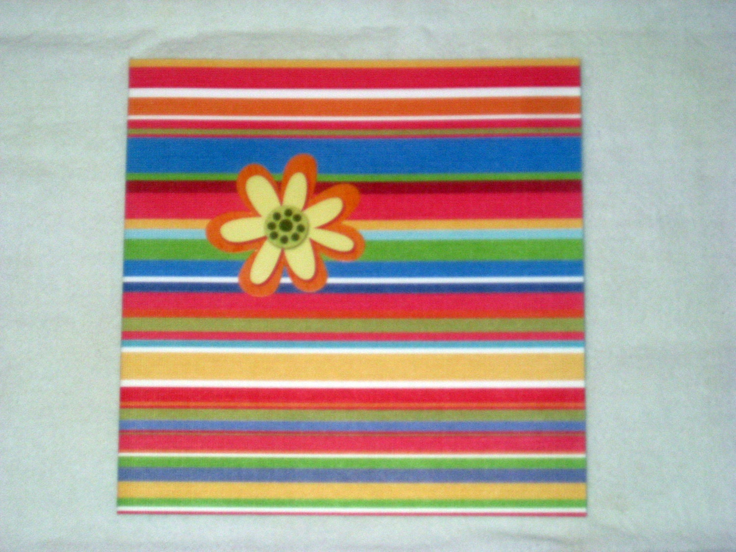 striped flower card