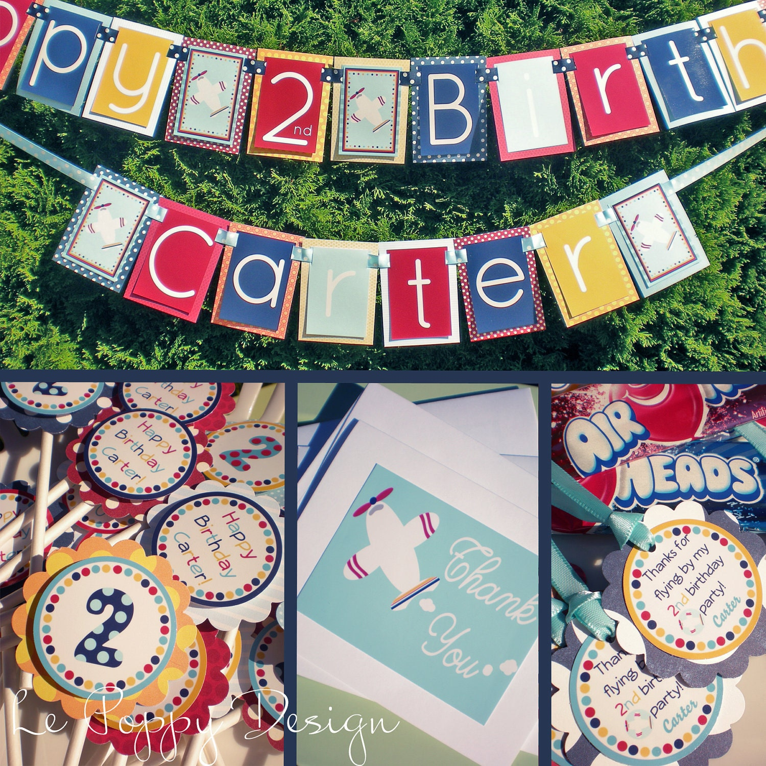 Items similar to Airplane Birthday Party Decorations - High Flying Fun ...