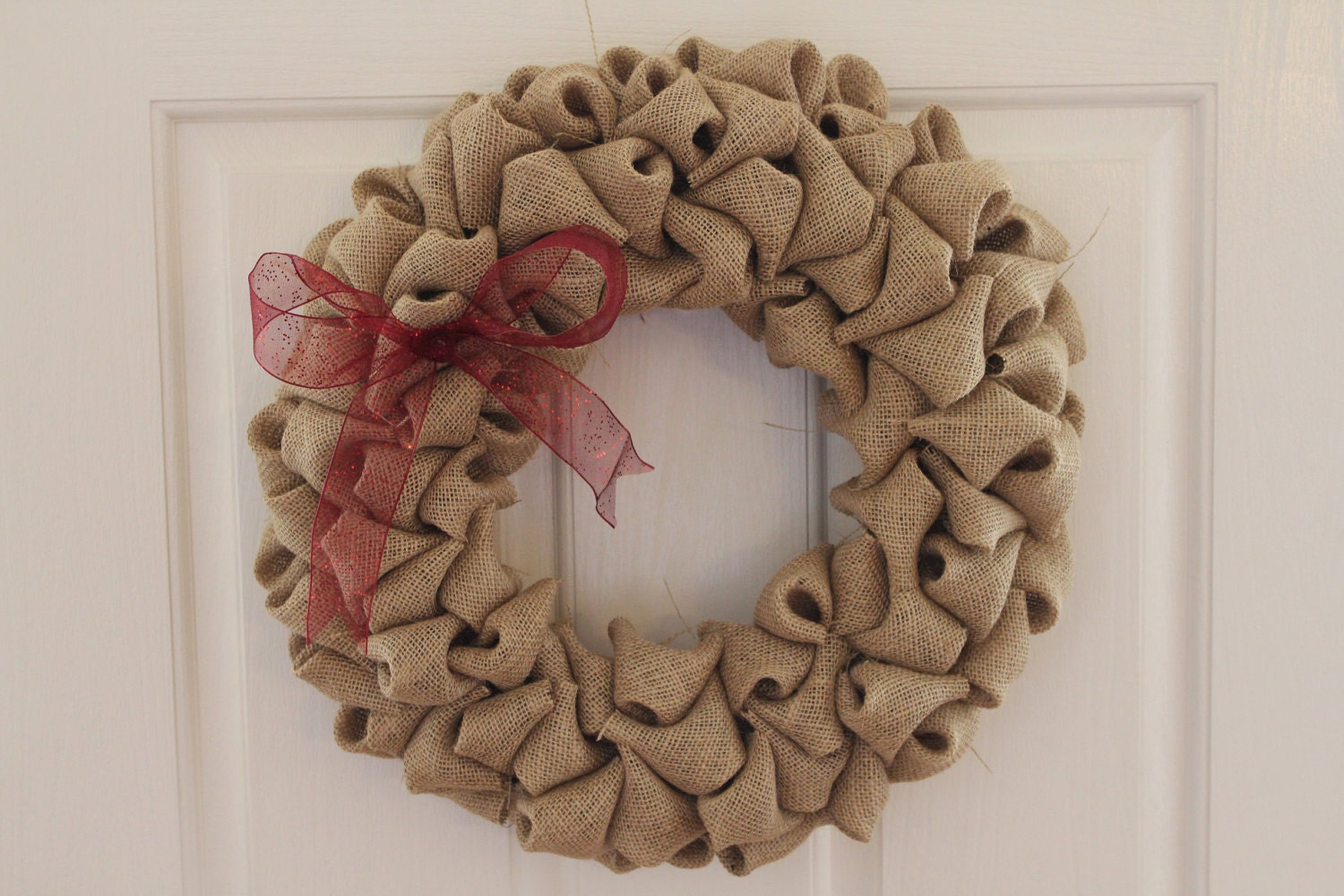 "Burlap Wreath- 14"" Natural Burlap Wreath"