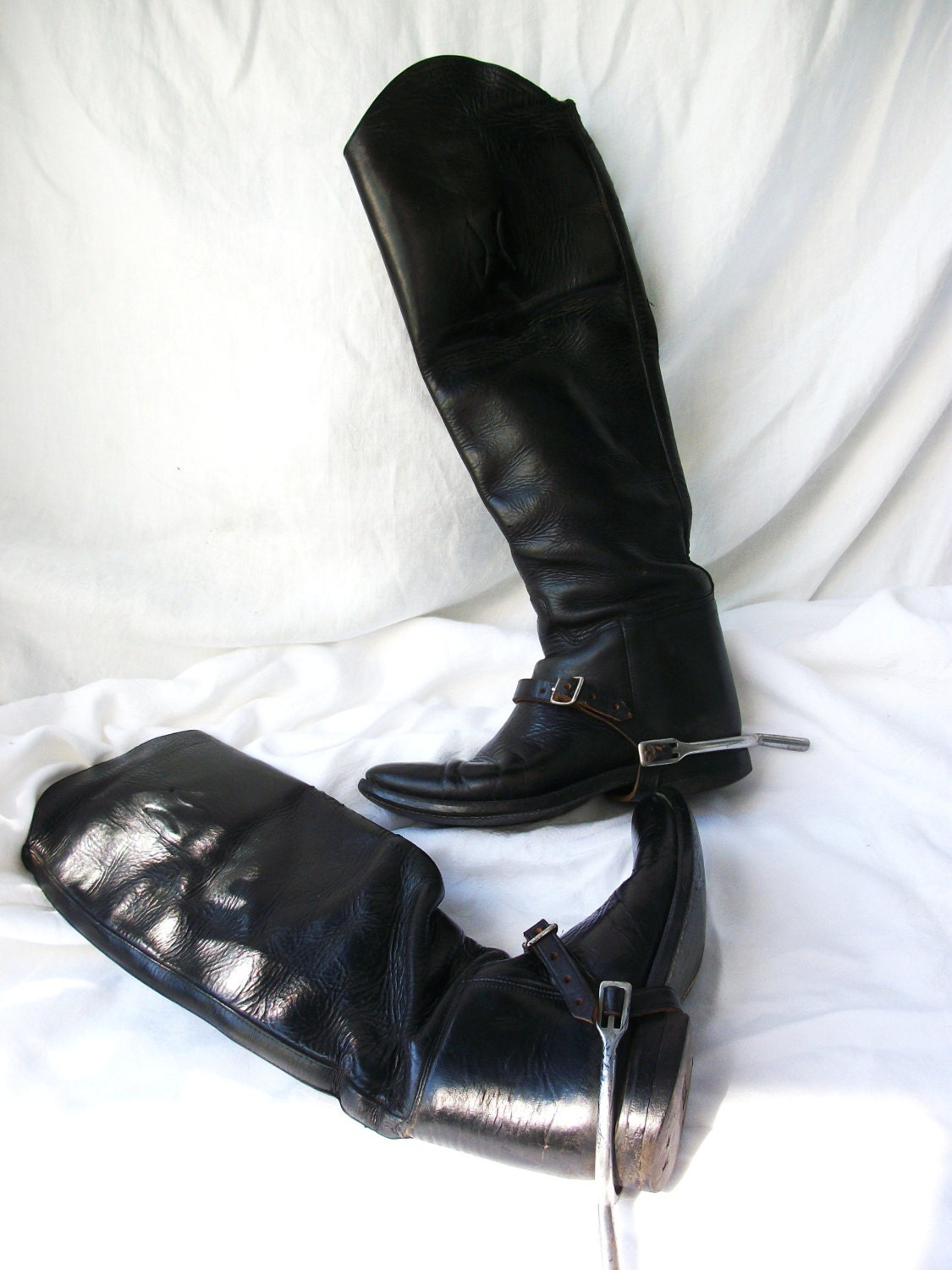 Vintage black effingham leather riding boots with for Jewelry stores effingham il