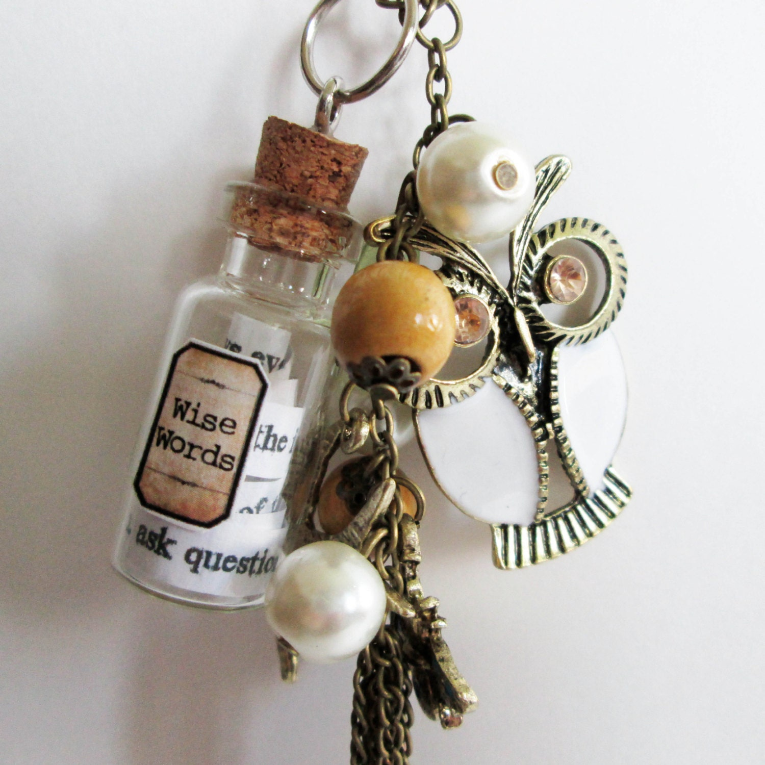Wise Words Apothecary Bottle Necklace - BlueBirdsFlyJewels