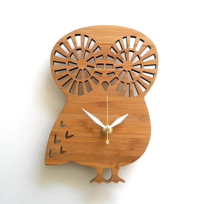 Modern Baby Clock - Owl