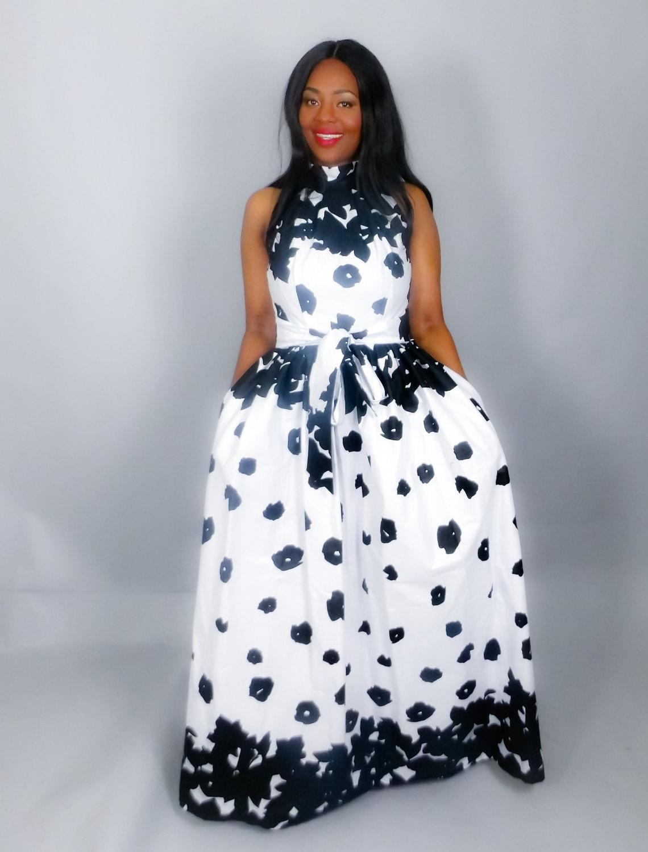 NEW INAfrican clothingAnkara dress African maxi dresshand made clothingmaxi skirtshalter neck dress