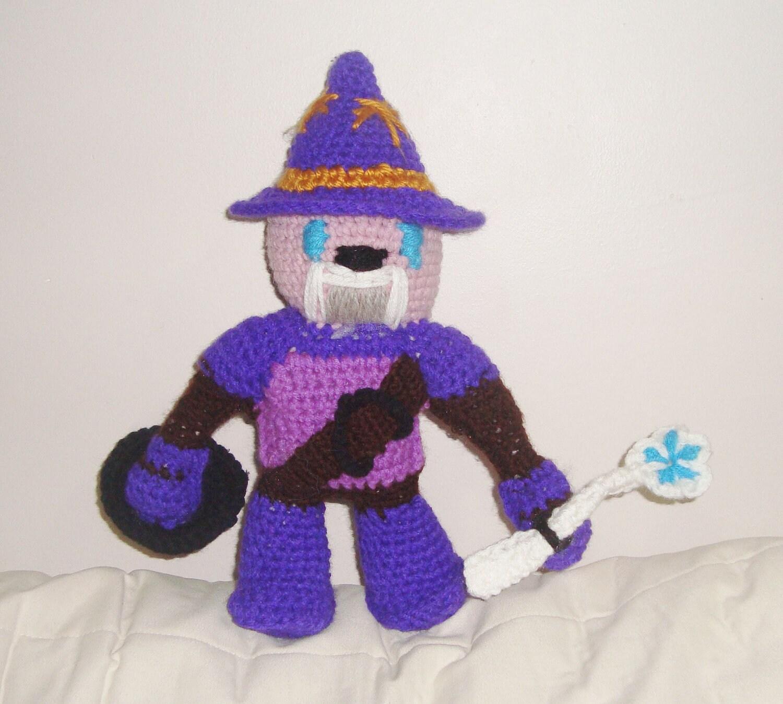 Crochet Toys For Boys : Sparlock toy the warrior wizard handmade kids boy by