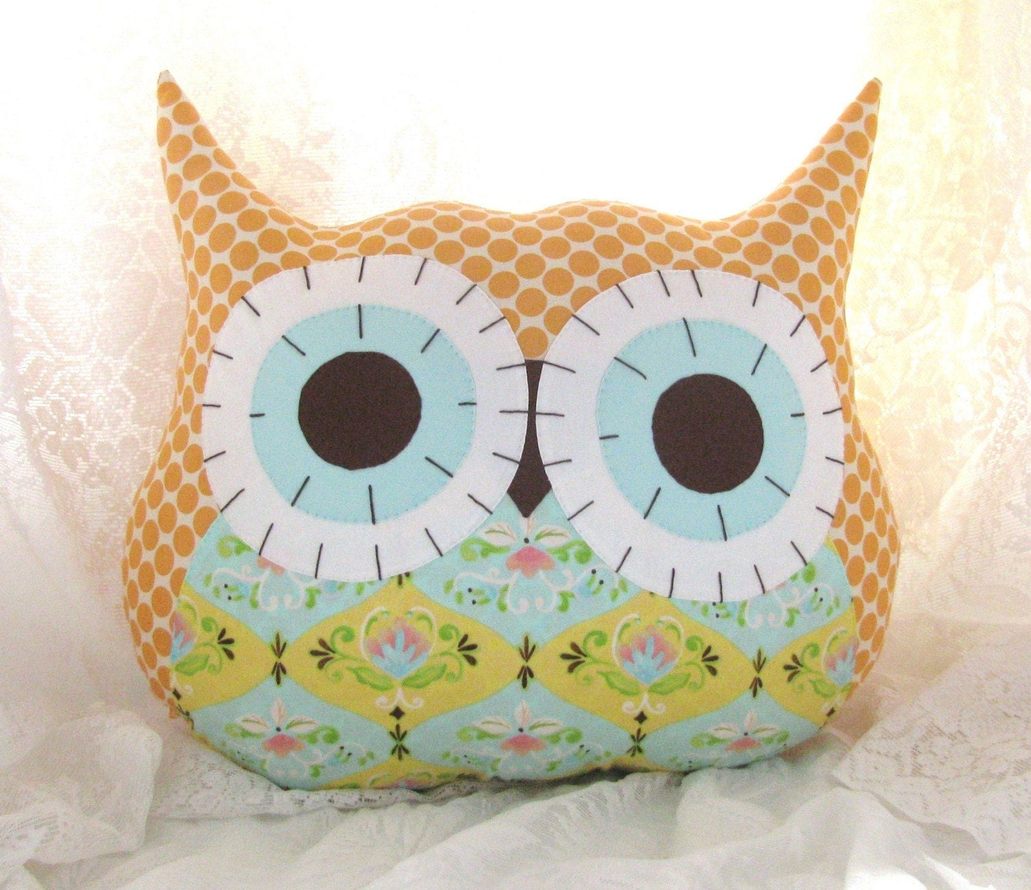 Water Lily Big Hoot Owl Plush/Pillow