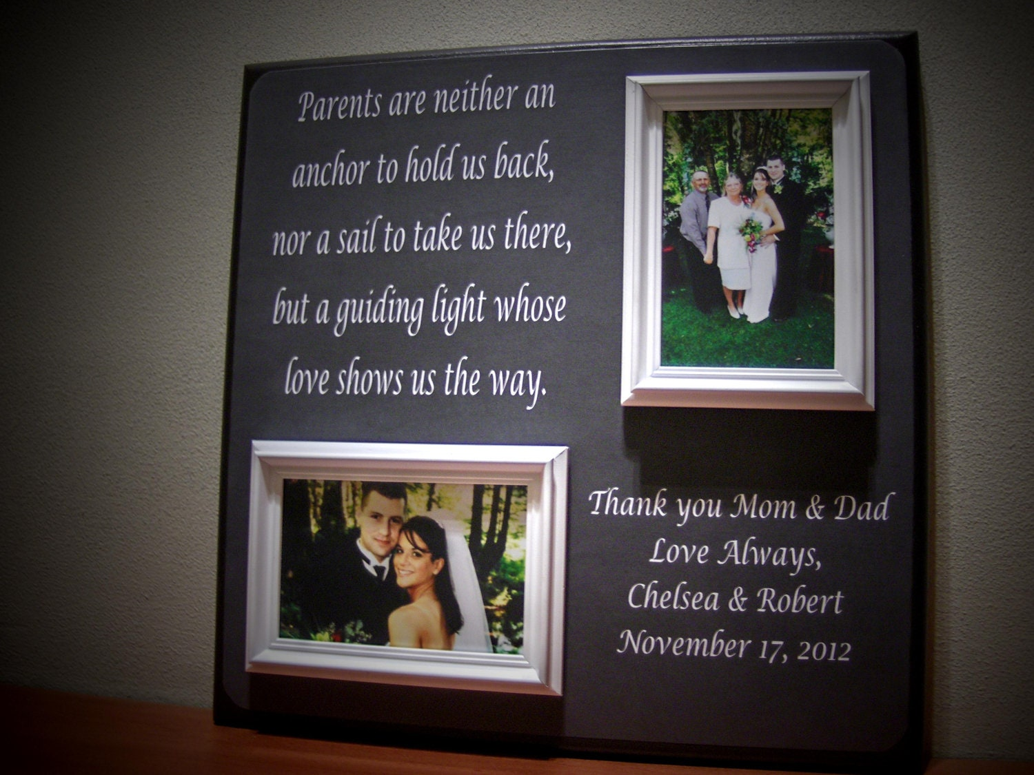 Wedding Day Gift For Parents : Parents Wedding Gift, Father of Mother of Thank You, Parents Are ...