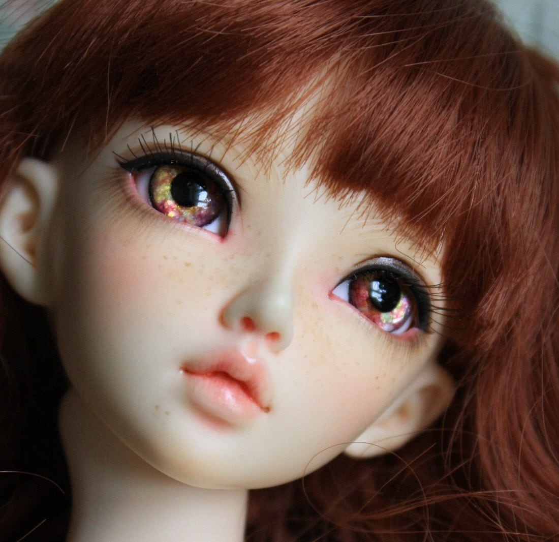 BJD eyes Doll eyes Hand made available in 12141618202224mm Spiced Apple made to order