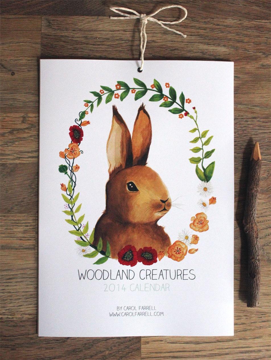 Woodland Creatures 2014 Calendar
