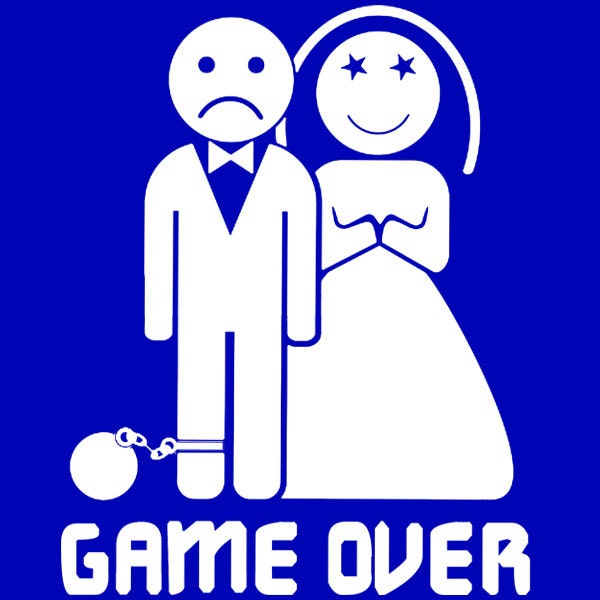 Game Over Marriage Ball And Chain Wedding Gift By