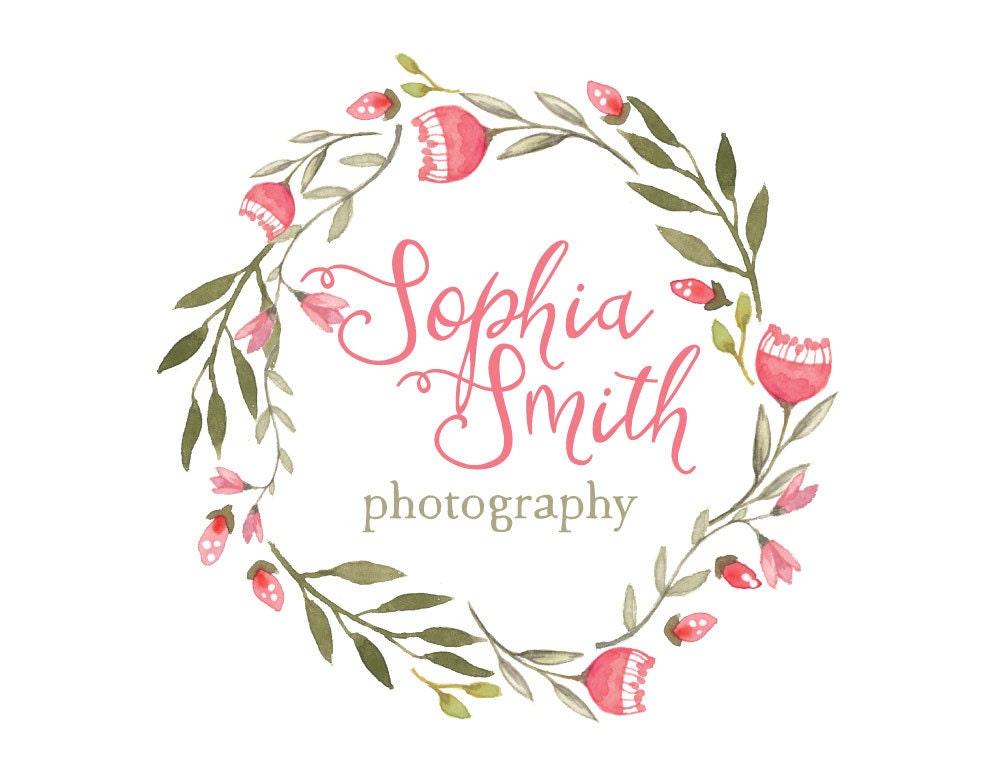 Wreath logo design  Etsy