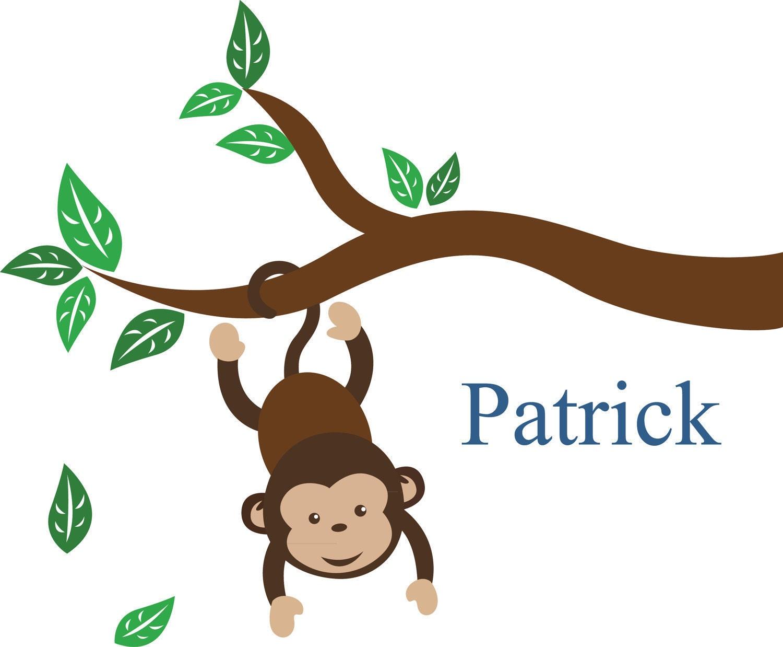 Cartoon monkeys hanging from a tree - photo#12