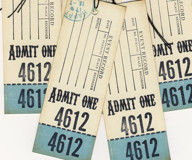 Even Record Journaling Ticket Tags Hand Stamped (5)