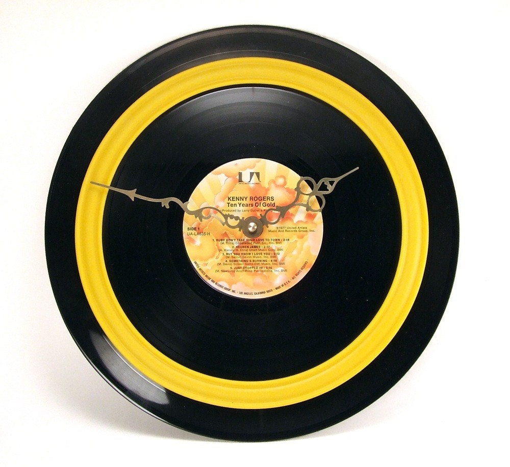 Record Album Clock - Country