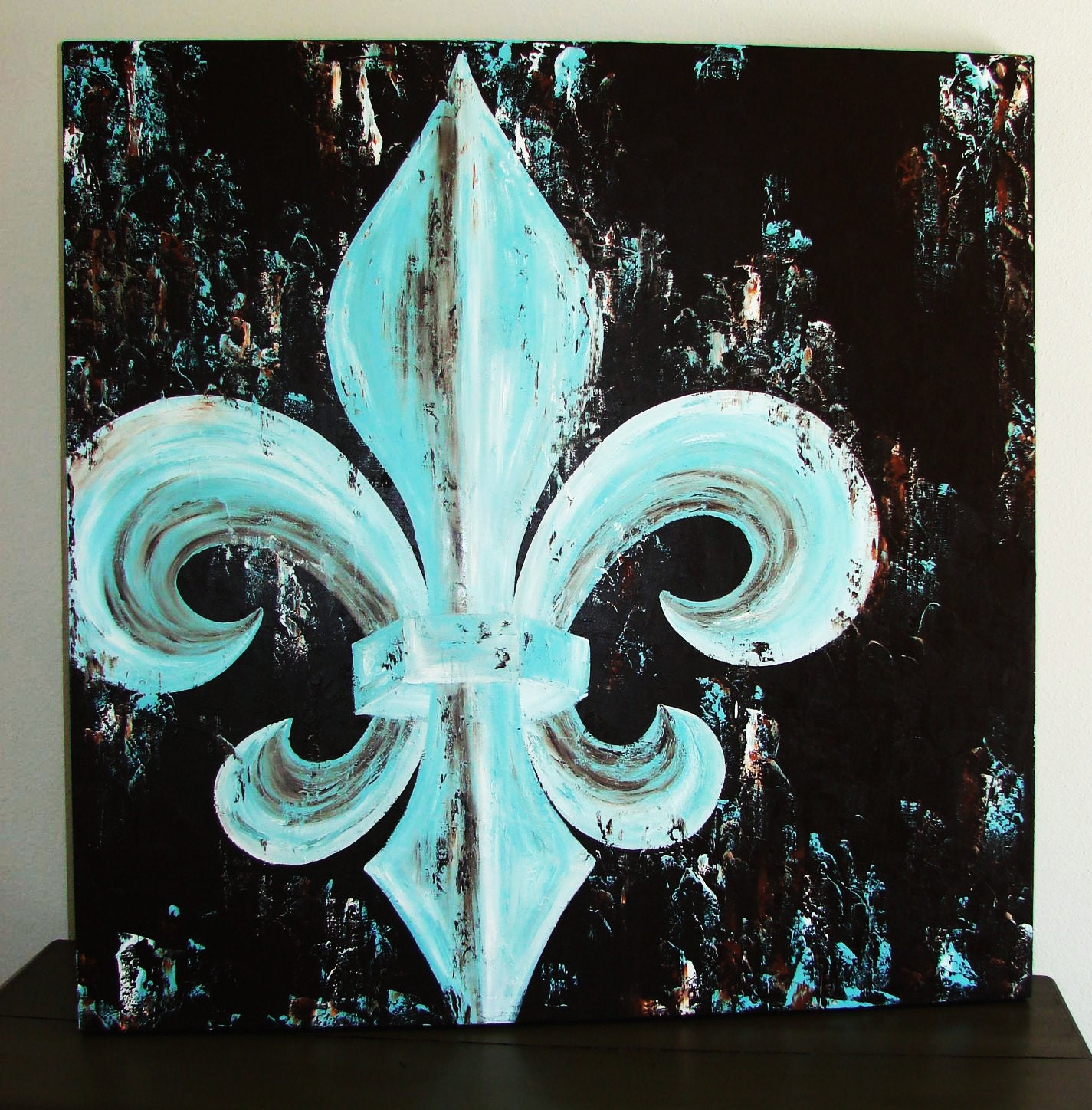 Fleur de lis original painting on canvas 42x42 by - Fleur paint ...