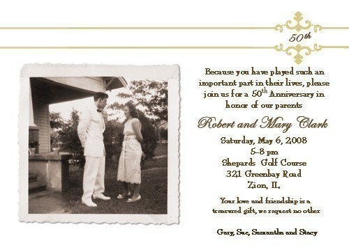50th Wedding Anniversary Invitation by nounces on Etsy
