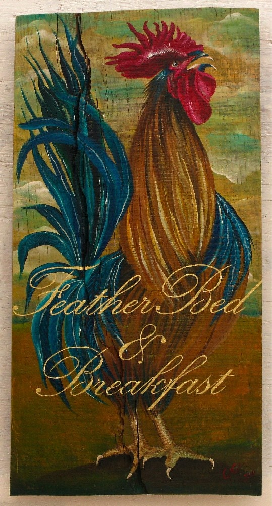 Items similar to custom rooster original acrylic painting for Custom acrylic paint