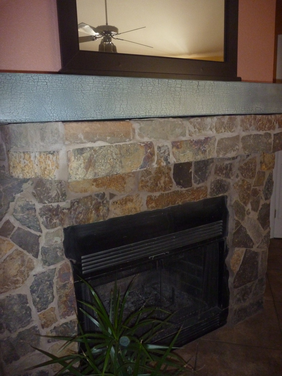 wood rustic fireplace mantelfloating mantel by