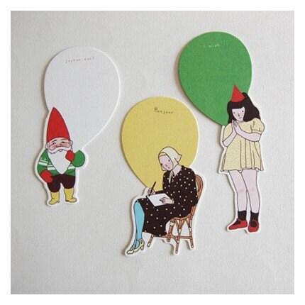 paper doll card - noel