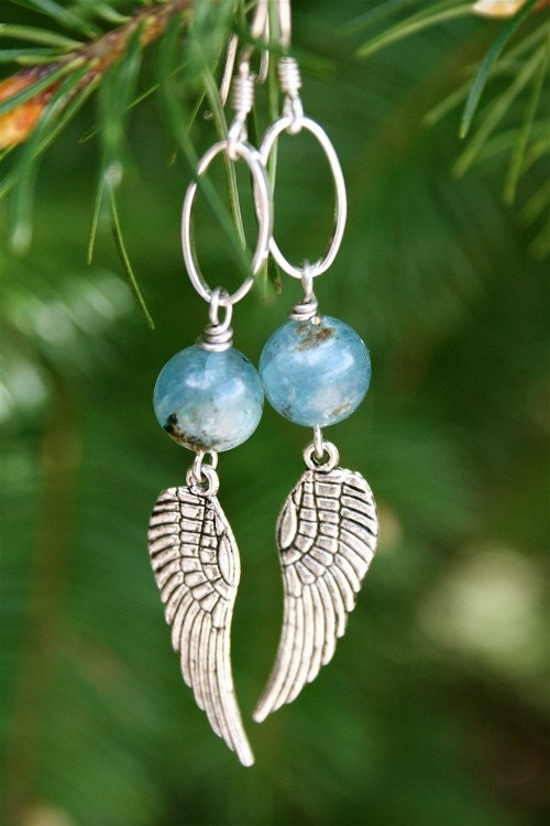 Kyanite Wing Earrings