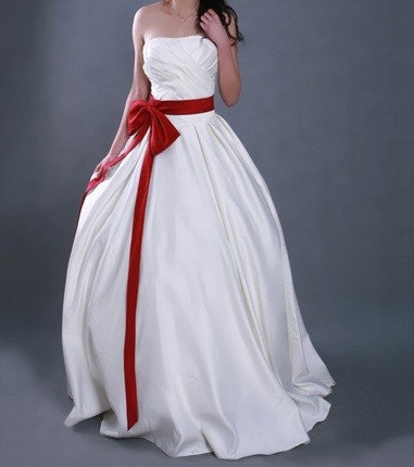 Special Offer - Mirror Flower - Ivory strapless floor length wedding / Party / Event dress with bead trimed bodice