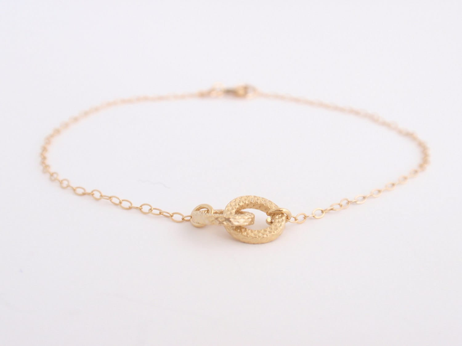 Tiny Infinity 14K gold filled bracelet-simple everyday jewelry